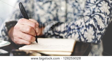 Writer Journalism Imagination Novelist Message Concept