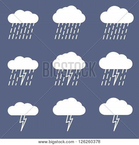Set of rainy icon. Graphic element vector.