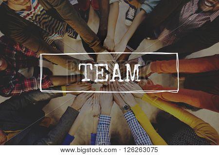 Team Teamwork Together Unity Alliance Union Concept