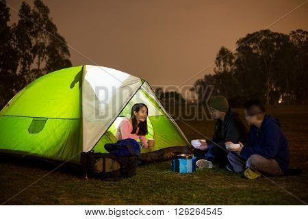 Freinds go camping