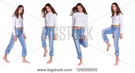 Pretty Woman In Blue Jeanse