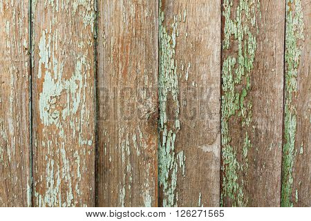 Old Shabby Wooden Planks with cracked color Paint background
