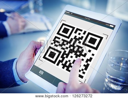 QR Code Encryption Interface Coding Concept