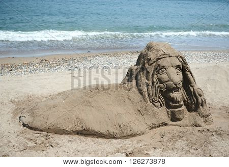 Not Finished Sand Statue