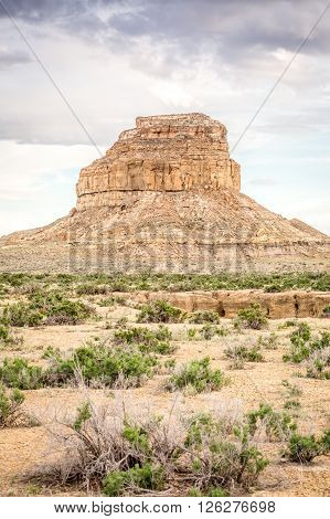 Fajada Butte In Chaco Culture National Historical Park