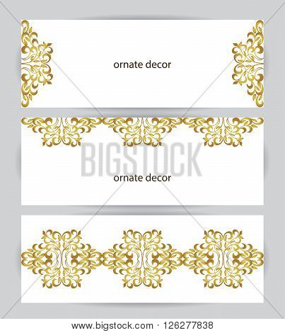 Vector decorative frame. Elegant element for design template, place for text. Floral border. Lace decor for birthday and greeting card, wedding invitation.