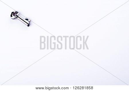 beautiful Key crystal isolated on white background