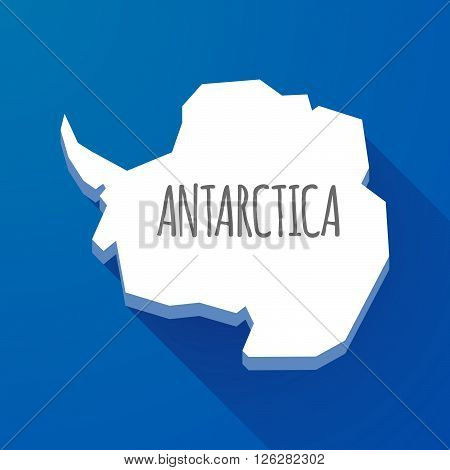 Long Shadow Map Of Antarctica Continent