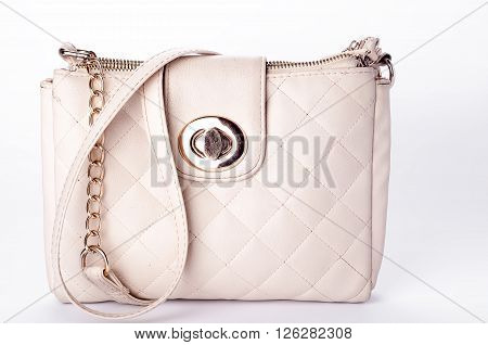Luxury women quilted bag isolated on bacground