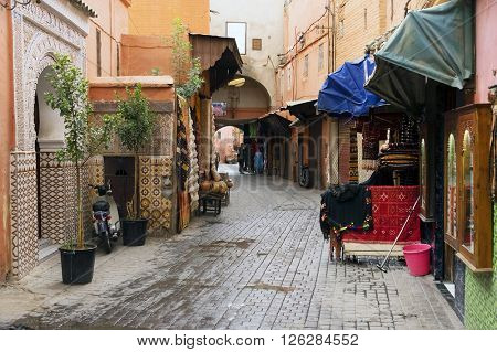 Old medina of Marrakesh, the Morocco, Africa