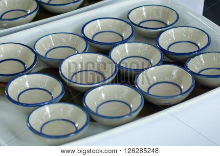 Small Ceramic Bowl Of Canape.