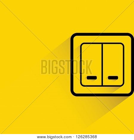 switch icon with drop shadow on yellow background