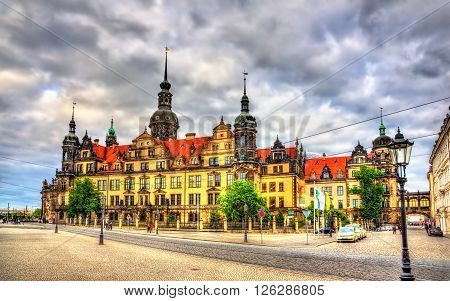 View of Dresden castle in Germany, Saxony
