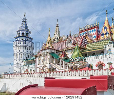 Unique center of culture and entertainment - Kremlin in Izmailovo Moscow Russia. ** Note: Soft Focus at 100%, best at smaller sizes
