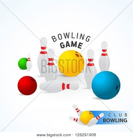 Bowling ball and skittle colored elements game