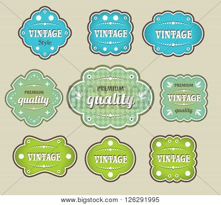 vintage labels retro design template style set