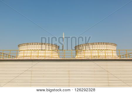 Field erected cooling tower (FEP) used for cooling the circulating water in the plants or factories