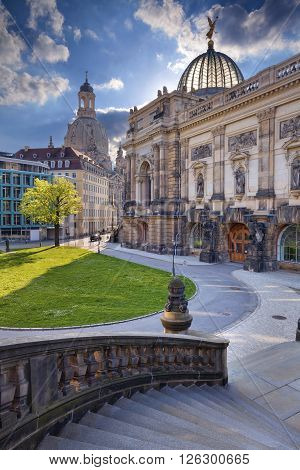 Dresden. Image of Dresden old town at spring day.