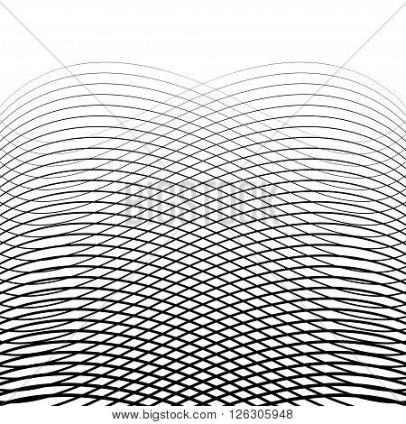 Abstract Halftone Backgrounds. From Lines and Waves
