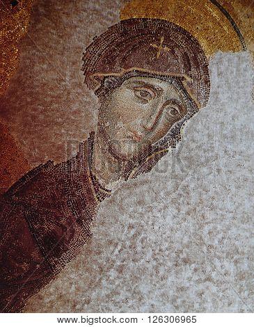 Byzantine Mosaic In Basilica Of Hagia Sophia, Istanbul