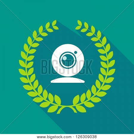 Long Shadow Laurel Wreath Icon With A Web Cam