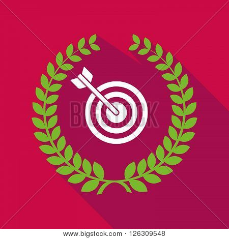 Long Shadow Laurel Wreath Icon With A Dart Board