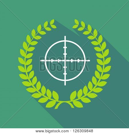 Long Shadow Laurel Wreath Icon With A Crosshair