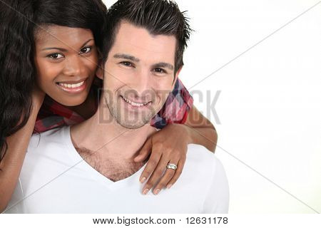 Portrait of a smiling Metis couple