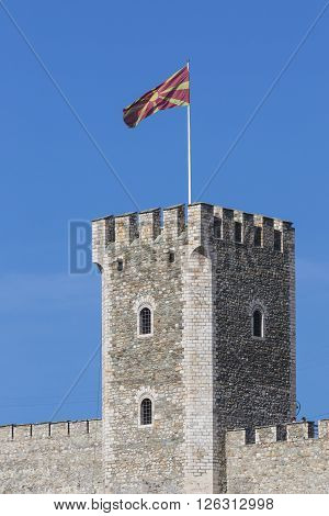 Skopje, Macedonia - April 15: Kale Fortress Is A Historic Fortress Located In The Old Town On April,