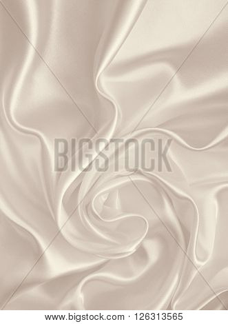 Smooth Elegant Golden Silk Or Satin As Wedding Background. In Sepia Toned. Retro Style