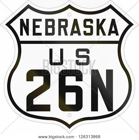 Historic Nebraska Highway Route Shield From 1926 Used In The Us