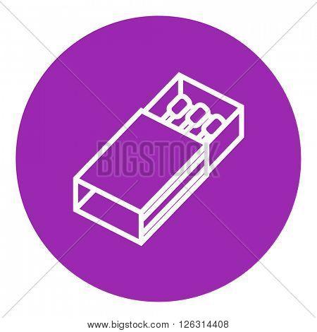 Matchbox line icon.