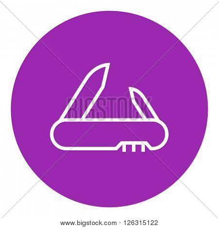 Jackknife line icon.