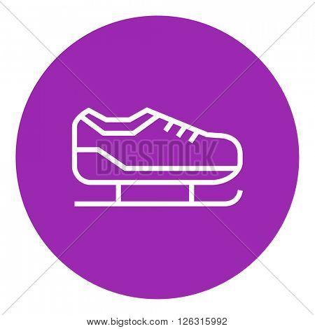 Skate line icon.