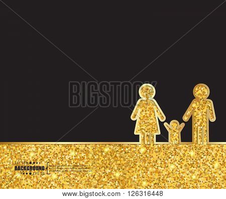 Creative vector family. Art illustration template background. For presentation, layout, brochure, logo, page, print, banner, poster, cover, booklet, business infographic, wallpaper, sign, flyer.