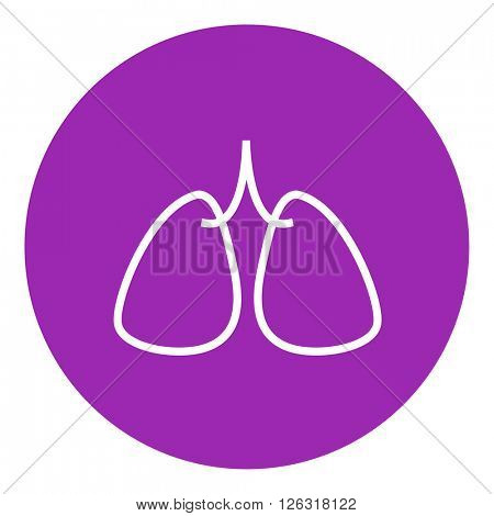 Lungs line icon.