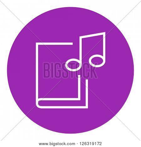 Audio book line icon.