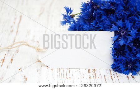 Cornflowers And Card