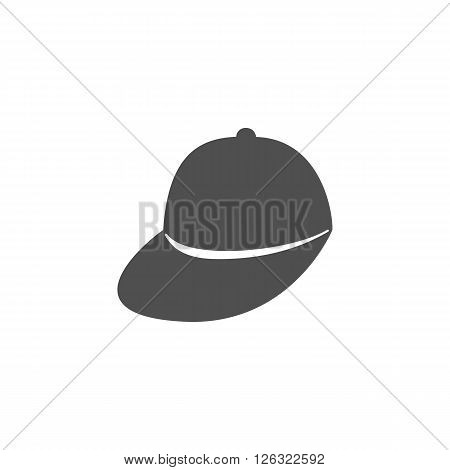 Baseball cap Icon Vector on white background.