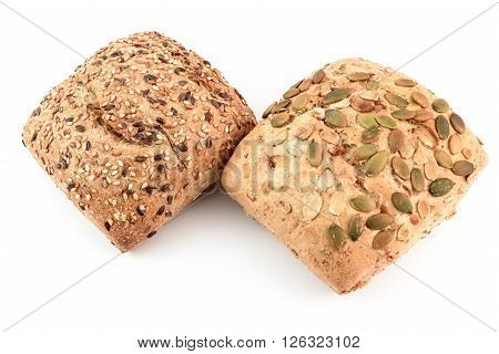 bread multicereal and bread with pumpkin seeds