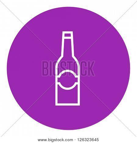 Glass bottle line icon.