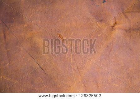 Genuine Brown Leather Texture Closeup
