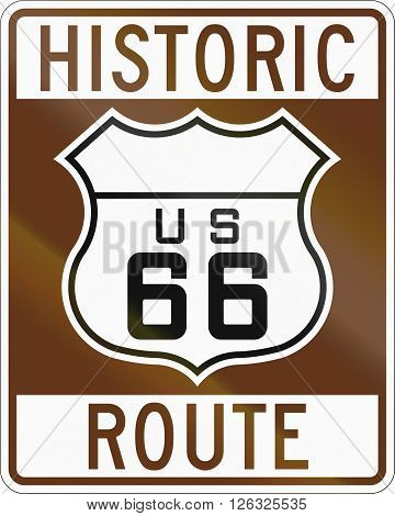 United States Route Shield Of The Historic Route 66