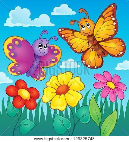Happy butterflies theme image 7 - eps10 vector illustration.
