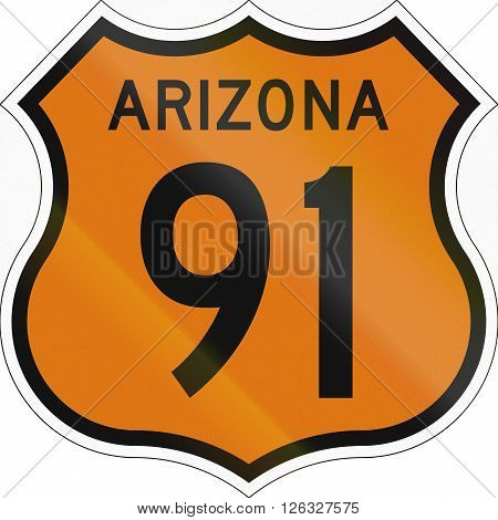 Historic Arizona Highway Route Shield From 1958 Used In The Us