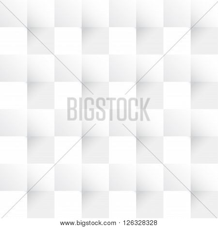 White Folded Paper Texture Seamless Pattern Vector Illustration
