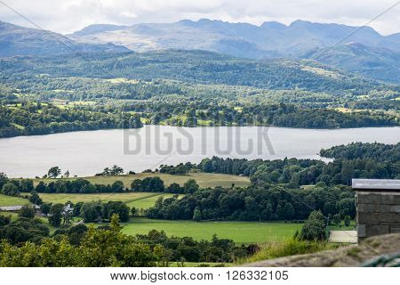 Windermere Lake And Orrest Head. English Lake District National Park