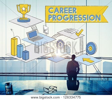 Career Progression Promotion Achievement Success Concept