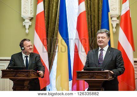 Petro Poroshenko And Lars Lokke Rasmussen