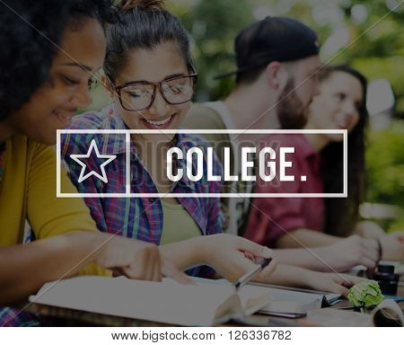 College Education Knowledge Wisdom School Instruction Concept